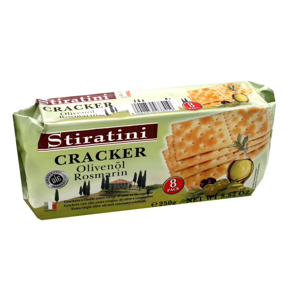 Stiratini Olive Oil & Rosemary Crackers