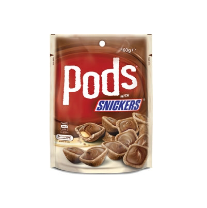 Pods with Snickers