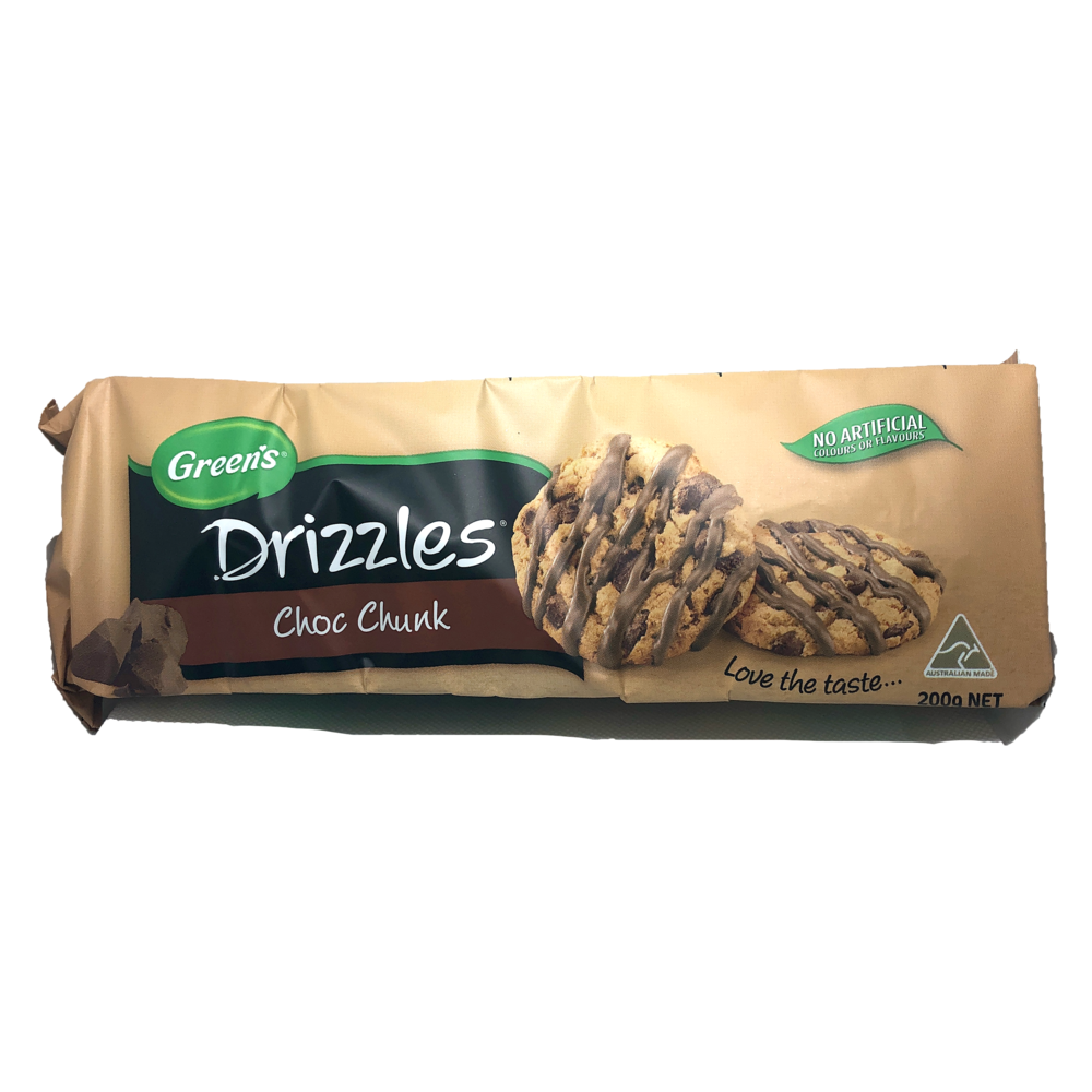 Green's Choc Chunk Drizzles Cookies