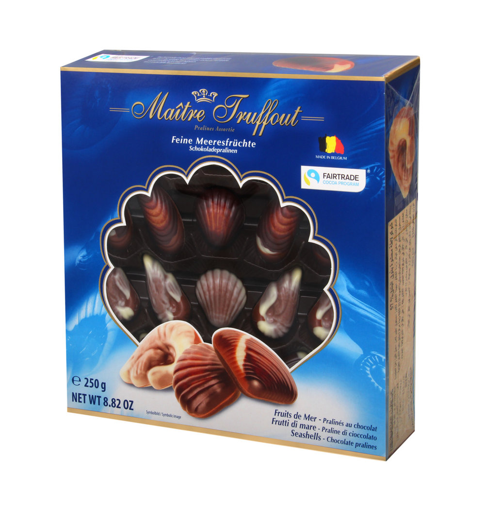 Maitre Truffout Sea Shell Pralines, Blue
