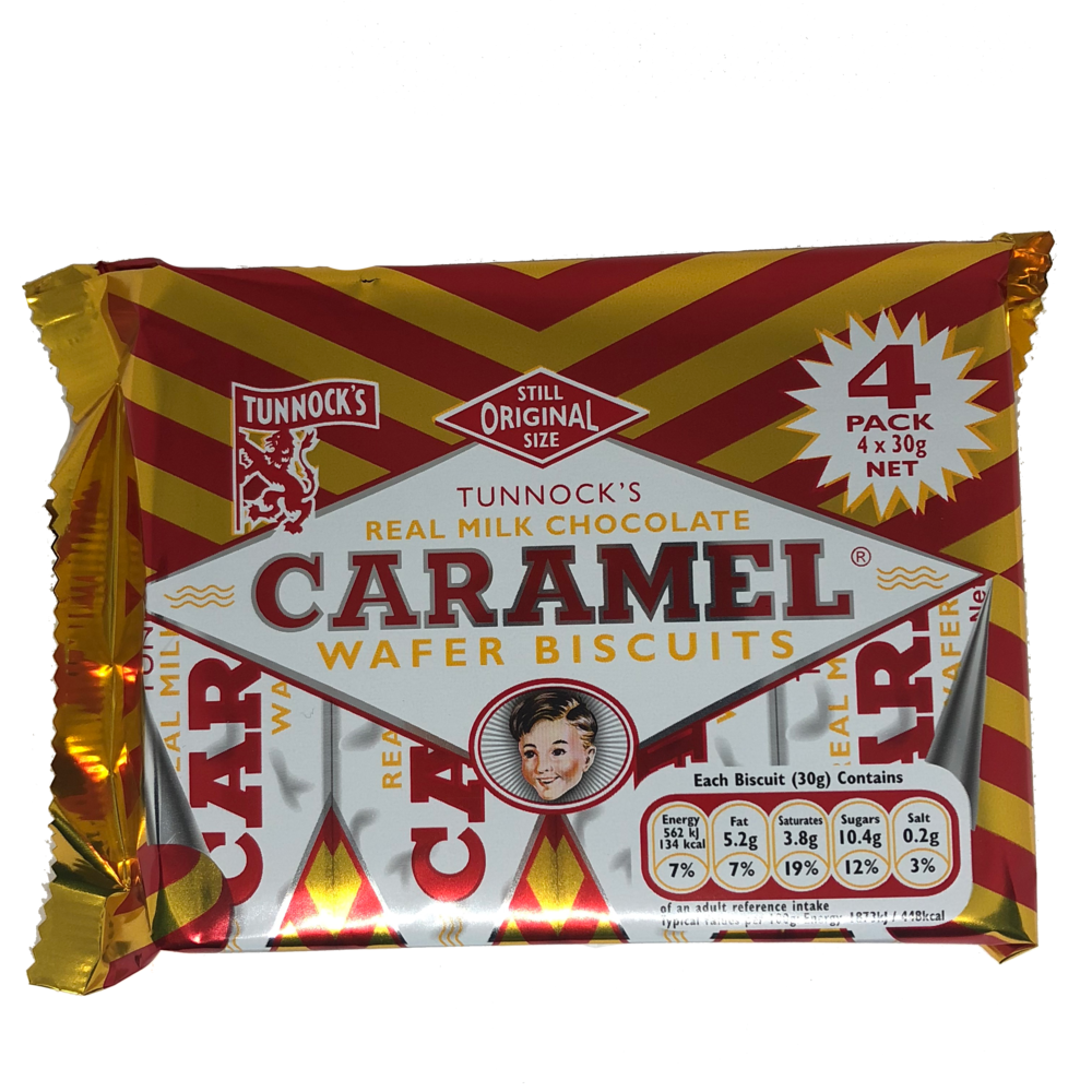 Tunnock's Milk Chocolate Caramel Wafer Biscuits