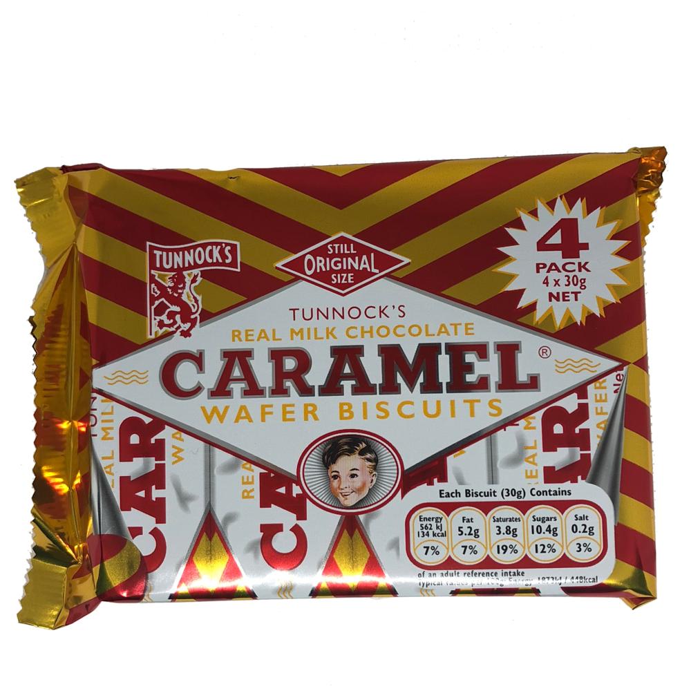 Tunnock's Milk Chocolate Caramel Wafer Biscuits