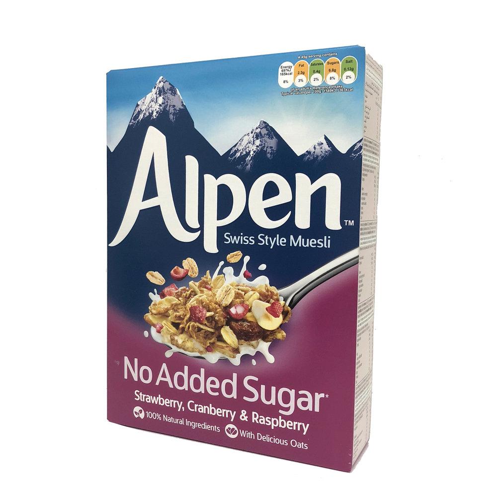 Alpen Muesli - Strawberry, Cranberry & Raspberry