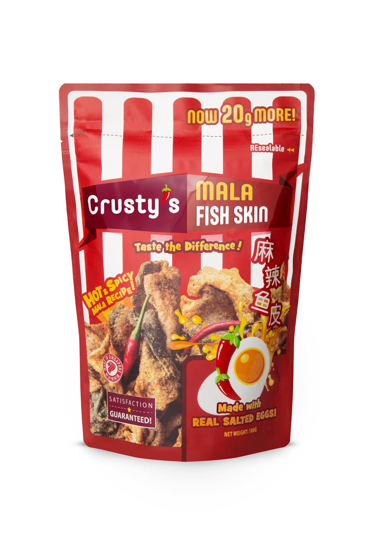 Crusty's Mala Salted Egg Fish Skin