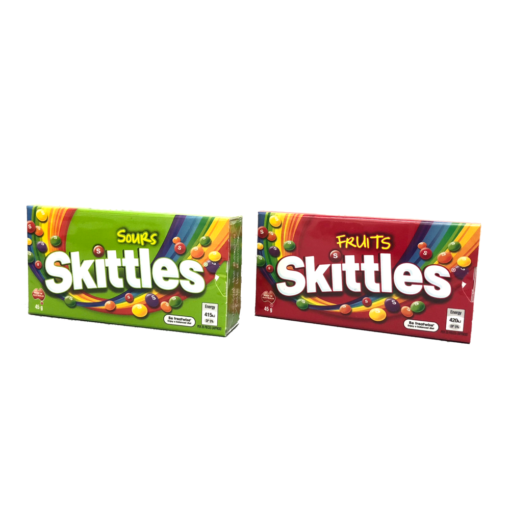 Skittles Sours and Skittles Fruits