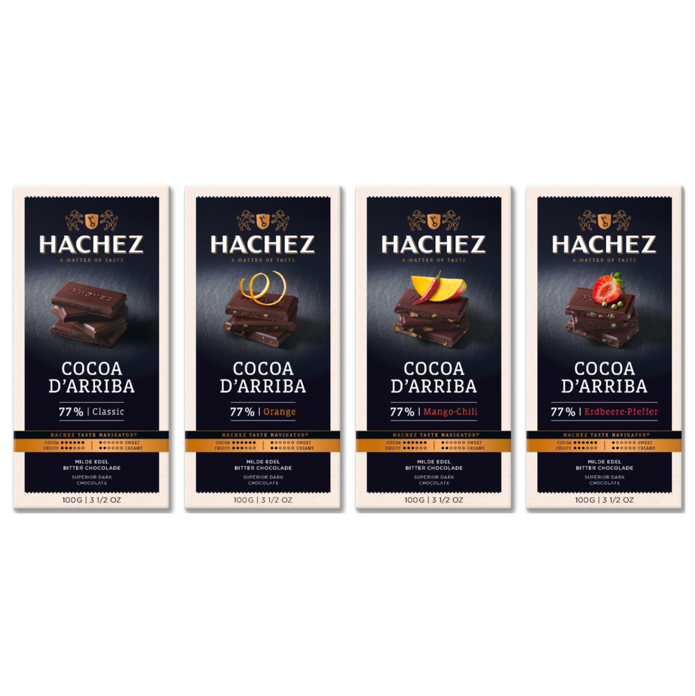 Hachez Cocoa d'Arriba Chocolate Bars