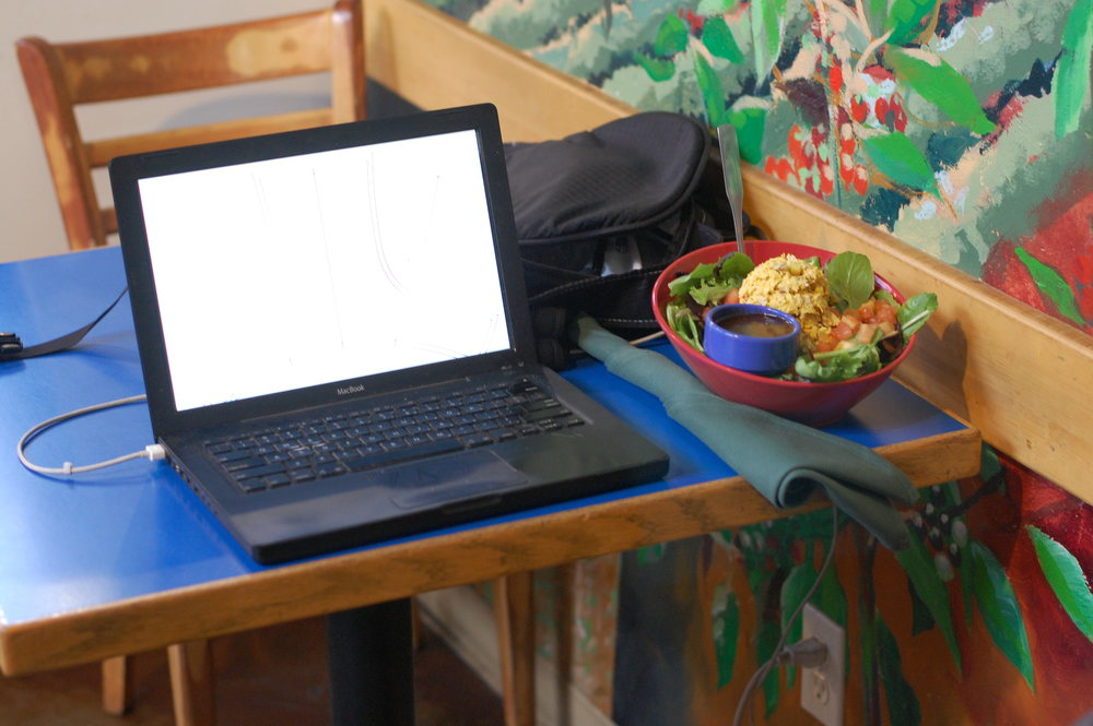My second office at Strictly Organic