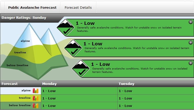 A stellar looking avy forecast for January 3rd in Glacier National Park. A sign of good things to come.