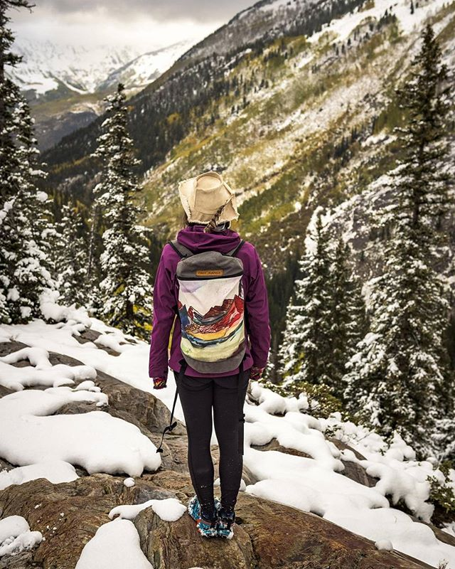 It always takes @sarahvirginiauhl at least a week to respond to my emails. For the best of reasons. Usually because she's on some epic adventure involving mountain bikes, skis, and water colors. Here we find her in her natural habitat: lost, in the mountains, and stoked on life. Keep up the good work Sarah! #packsgonewild. Photo cred: @a.chad
