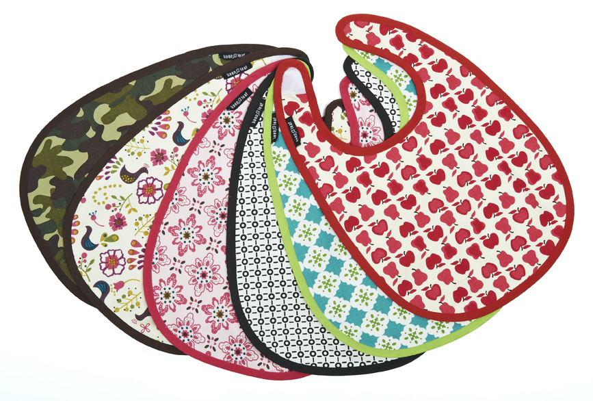 Modern, fun, organic baby bibs.  Feed your baby in style!