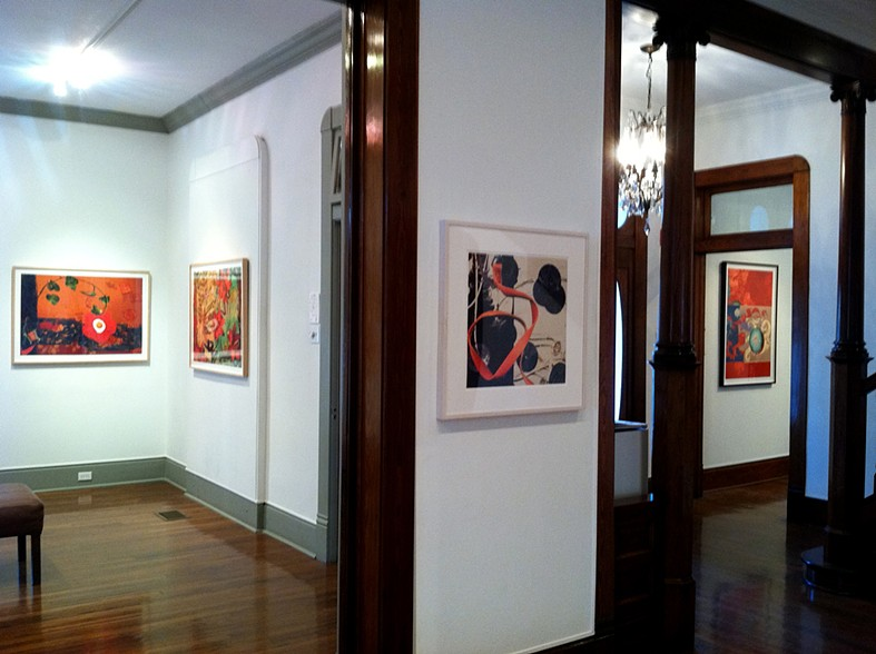 "Installation View.  ""Decade"" exhibition at the Beeville Art Museum, Beeville, Texas. 2012"