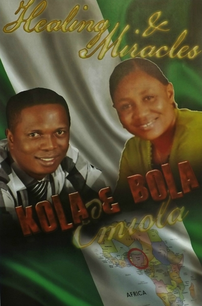 This dynamic duo, Kola & Bola Emiola, come to us from Nigeria, full of fire and faith for healing and miracles. All welcome!