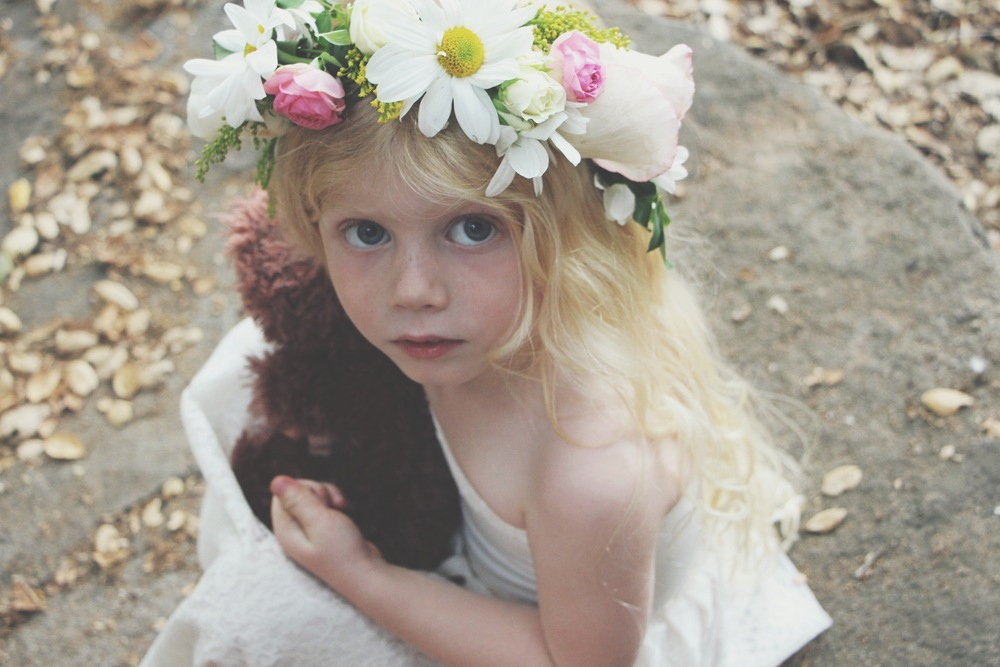 Diy Little Lace Dress and Flower Crown via Needles + Leaves