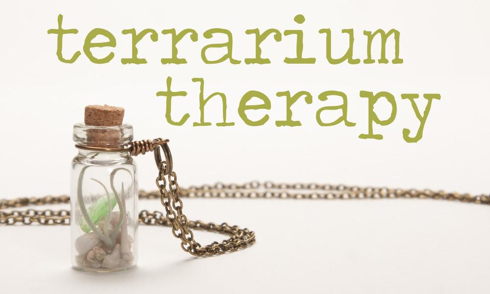 Terrarium Therapy via Needles + Leaves. Gorgeous terrarium necklaces.