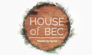 House of Bec via Needles + Leaves. Sterling silver succulent jewelry and hand stamped spoons.