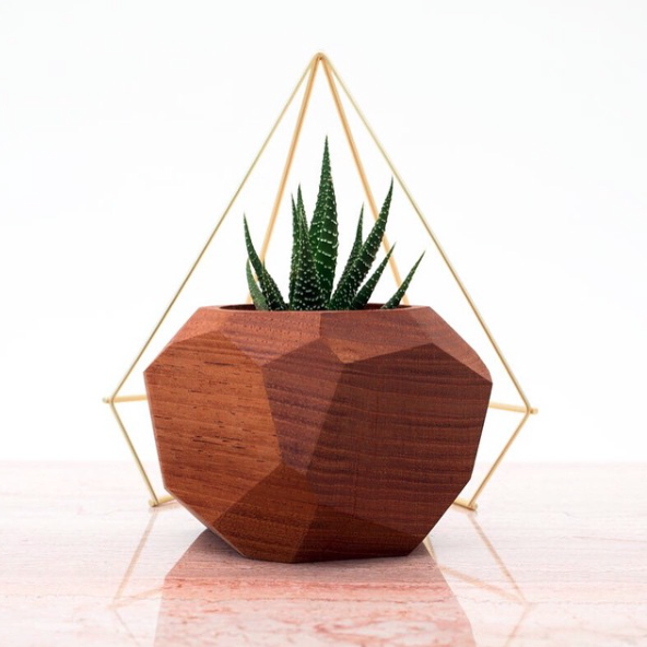 Foxwood Co. Walnut Vessel handmade and handcrafted wood succulent planter via Needles + Leaves blog.