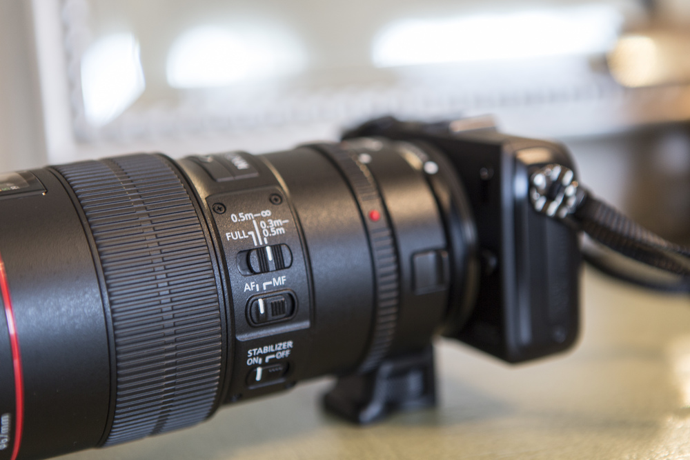 EF-EOS-M Lens adapter lets you use all your Canon/Sigma/Tamron EF lenses.