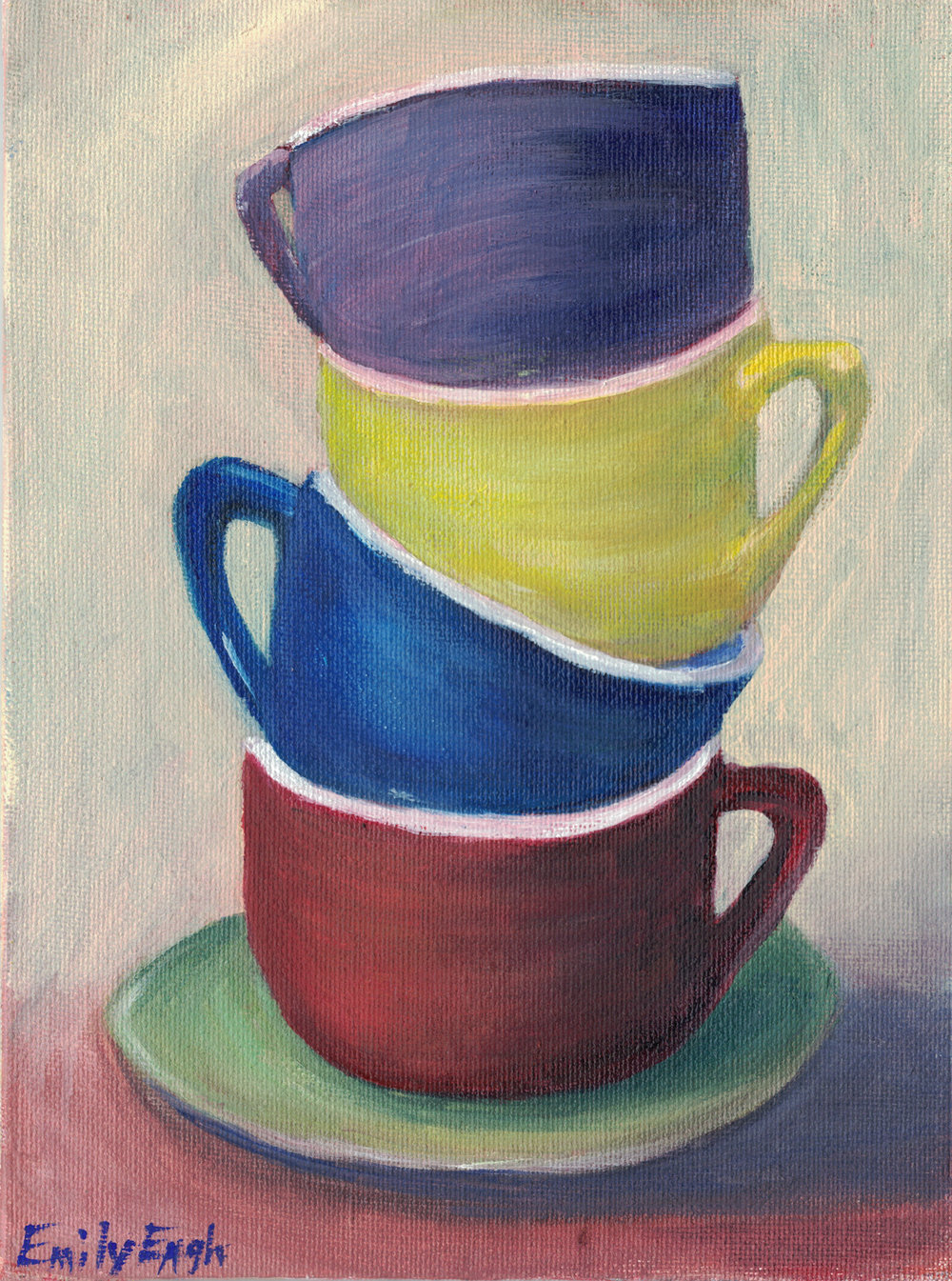 Stacked Cups      Original Painting  SOLD     Click Here to order Print