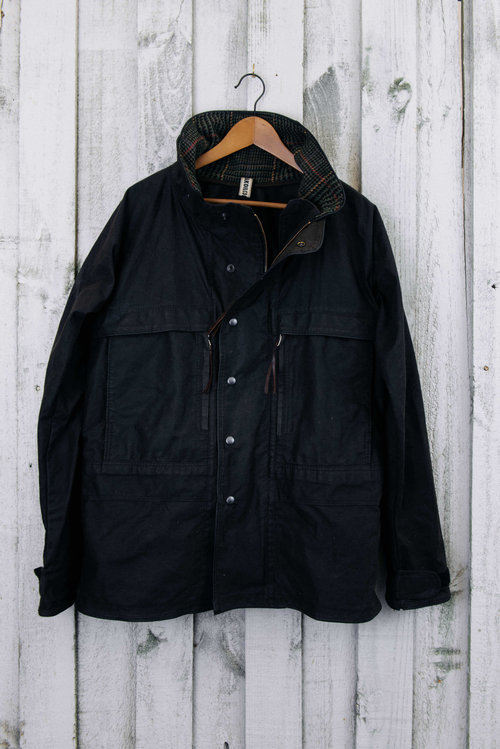 5c0390876bed Waxed Canvas Jacket - unlined hoodless — The Peak Oil Company