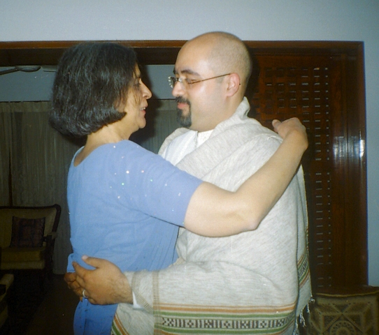 Ami and Ameel Embracing at Ameel's Nikah.jpg