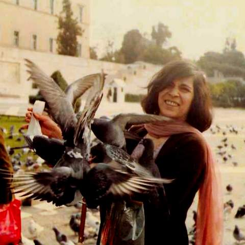 Ami with pigeons in Greece.jpg