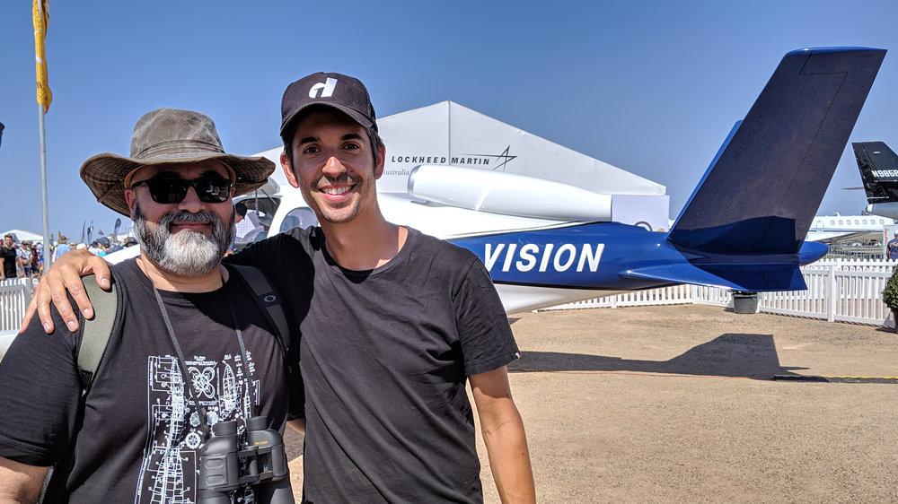 Stefan Drury and Cirrus Vision Jet.jpg