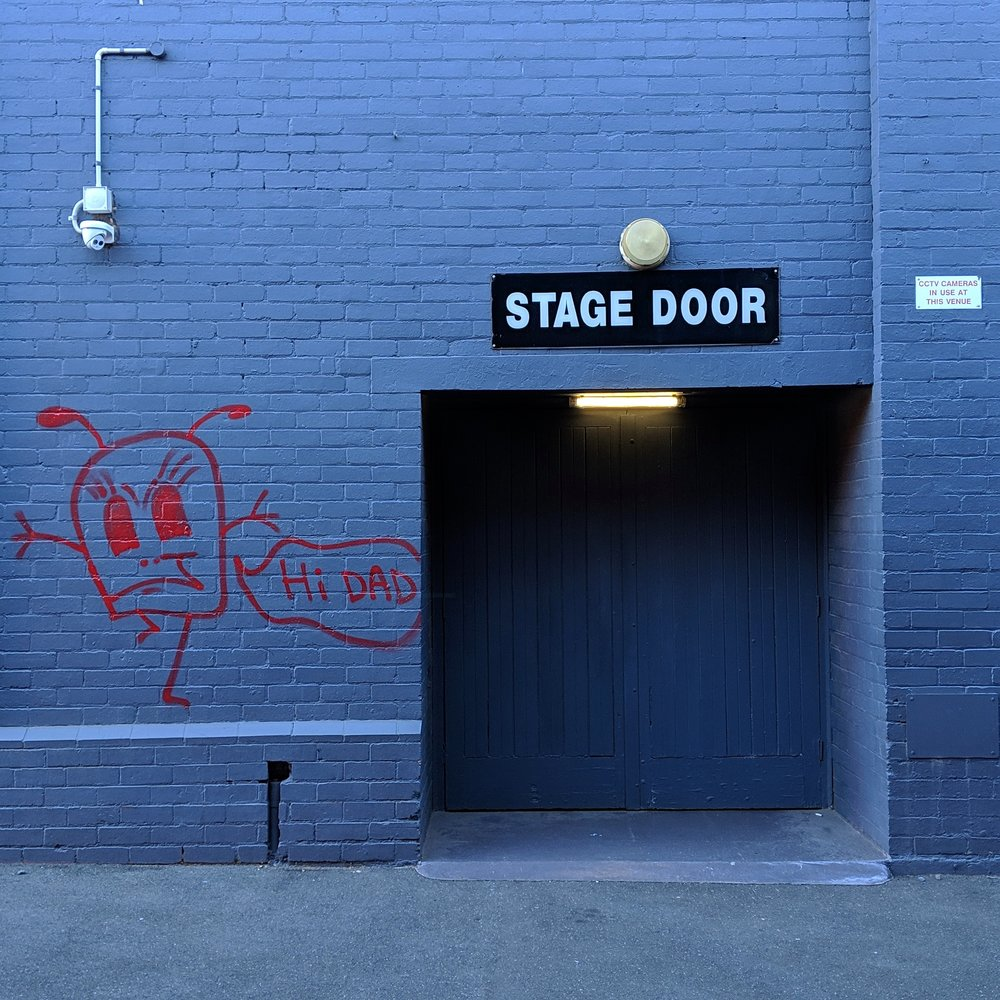 Stage door at Festival Hall in West Melbourne