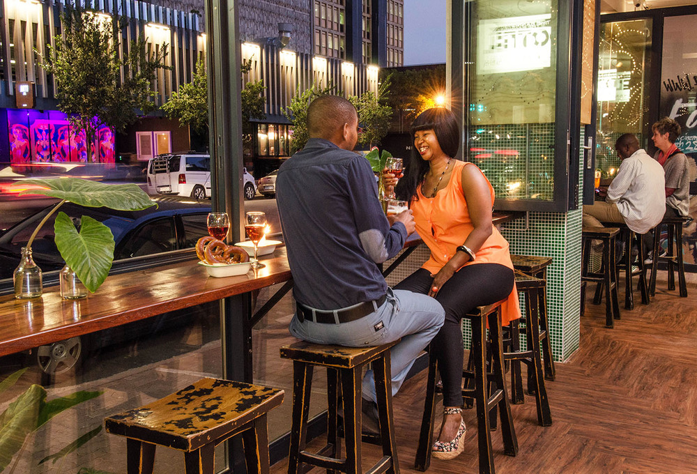 Eating the bannister hotel for African cuisine braamfontein