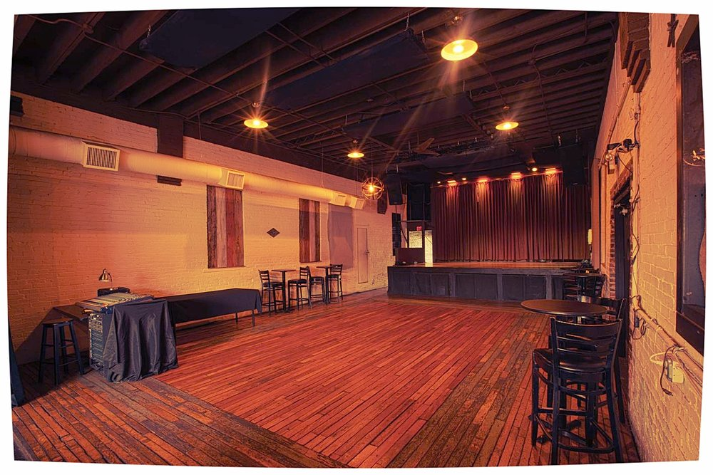 Bootleg - Concert Stage / Private Restrooms & BarThis room can be tailored to fit your needs, with a fully rigged concert and performance-ready stage, dedicated private entrance, restrooms, and bar. Ideal for private concerts, dance parties, fundraisers, sit-down dinners, cocktail parties, and every occasion in between in this versatile space. A large sliding door opens the entire back wall to the beautiful patio to allow an open air atmosphere, or as an adjunct to large patio hosted events.CAPACITY: Standing- 200 Seated- 75