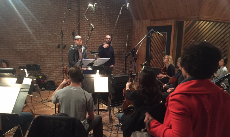 Director Jesse Gustafson and Composer Francis Rodriguez talk to the musicians