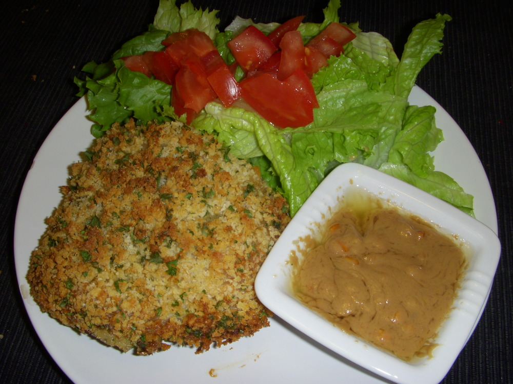 Baked Chicken with Peanut Sauce