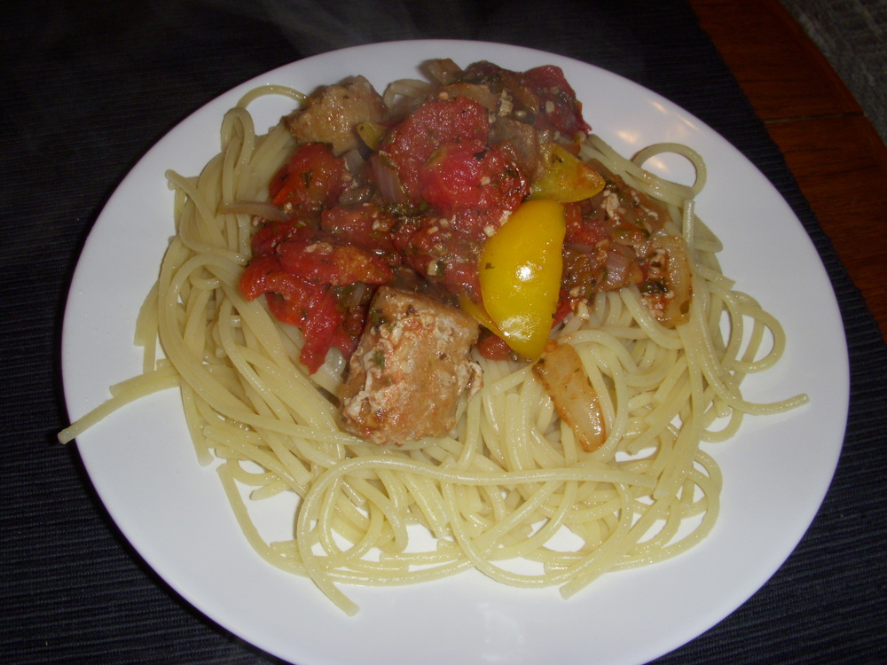 Spaghetti and Italian Sausage Meatsauce