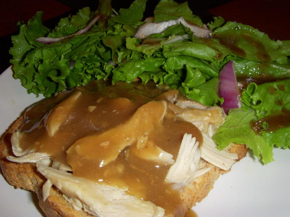 Leftover Open Turkey Sandwich