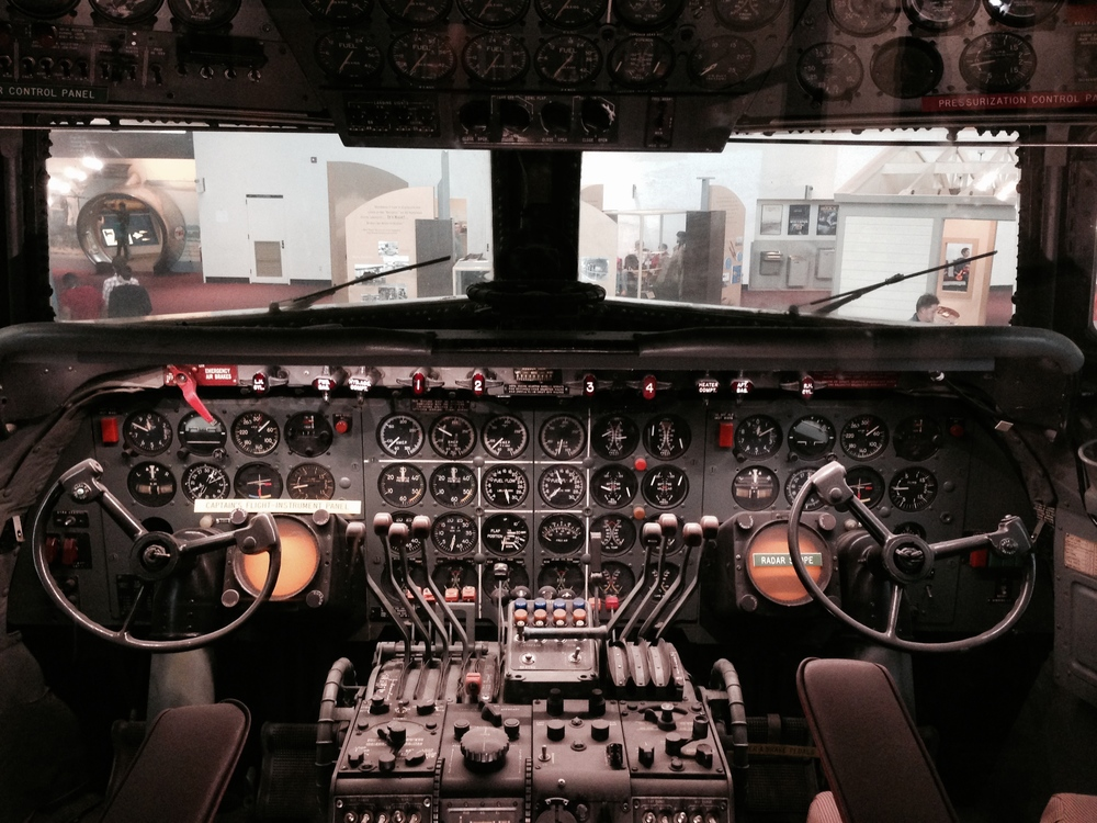 1950s plane cockpit