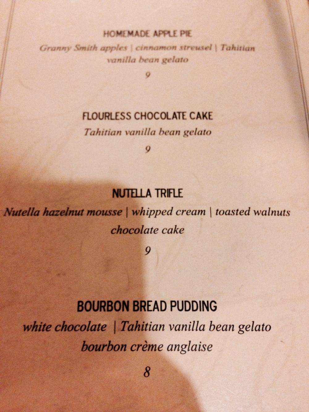 Finally, dessert.
