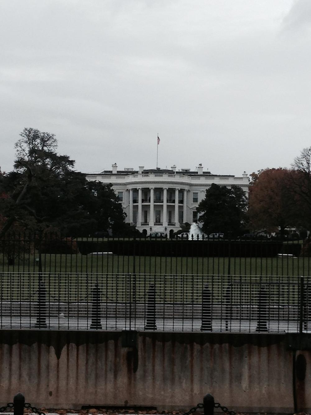 White House front door!