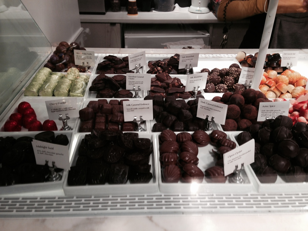 Godiva's Chocolate counter