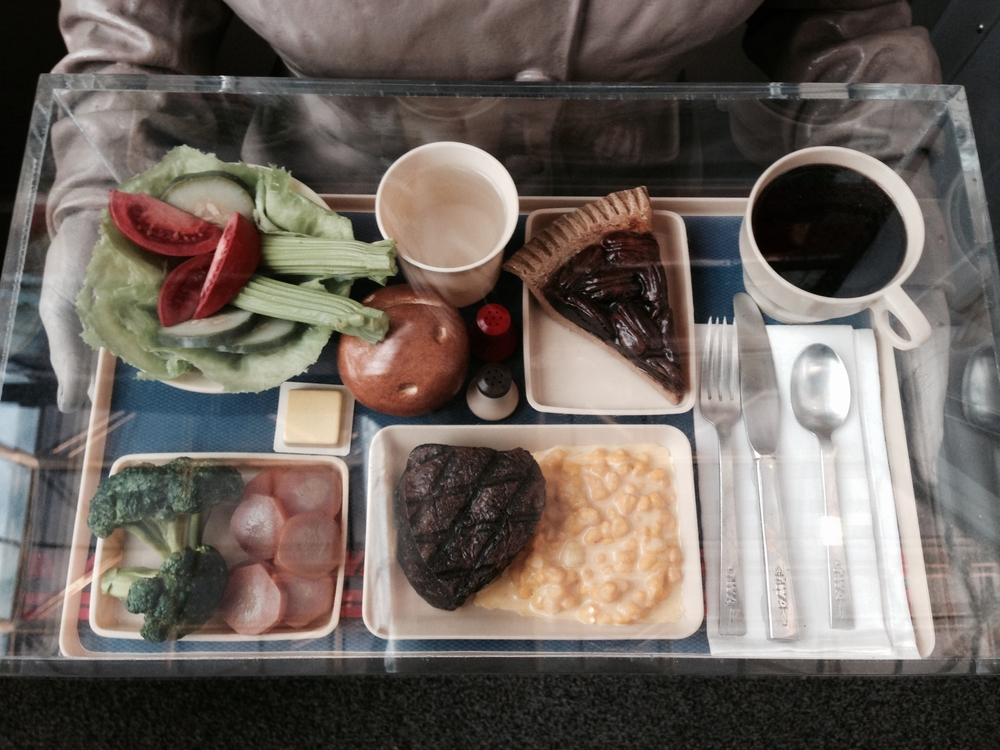 Mmmm, airplane food.