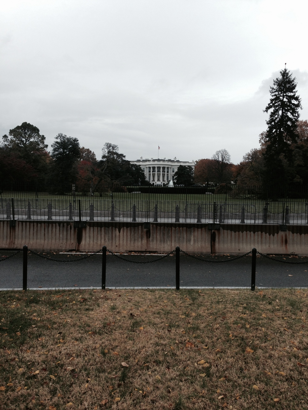 White House! Seriously far away.
