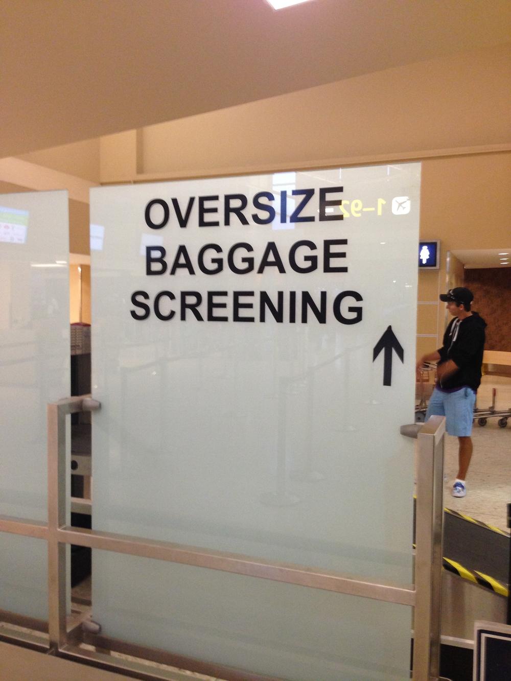 Secret fragile baggage screening too!