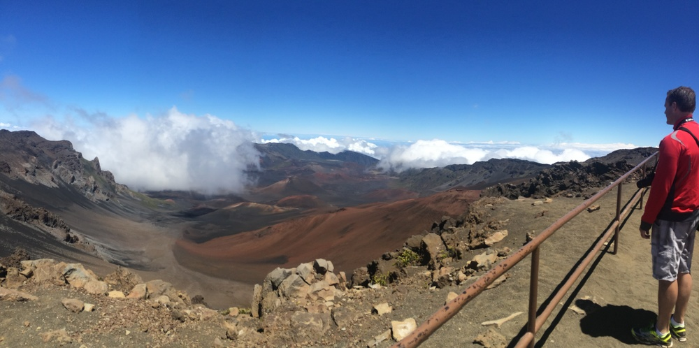 I got to see so many cool places on my trip to Hawaii with my dad. But none were as cool as Haleakala National Park on the island of Maui. The top of the mountain is above to the cloud line so once you're on the top it's a sight that is close to what I would imagine heaven to be. Just a sea of clouds in every direction. I can't wait to visit again.
