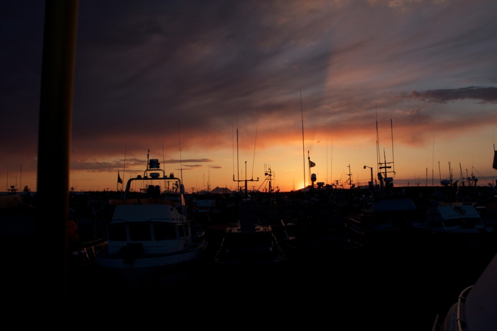 Sunset from the Dillingham boatyard