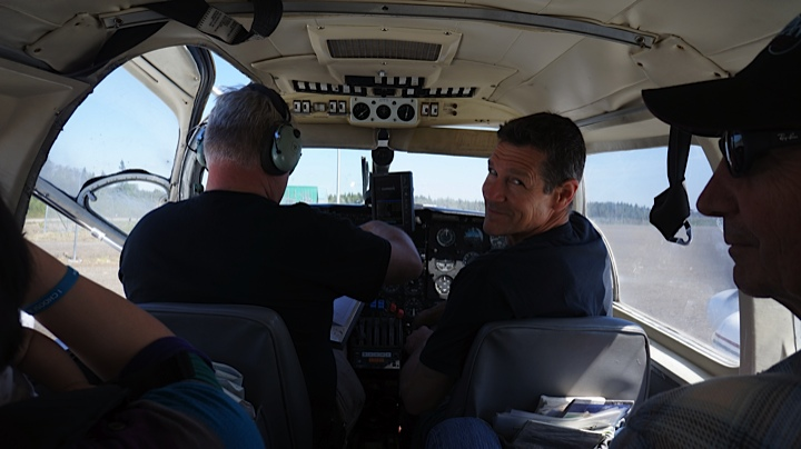 On the way, Randy in the jump seat.