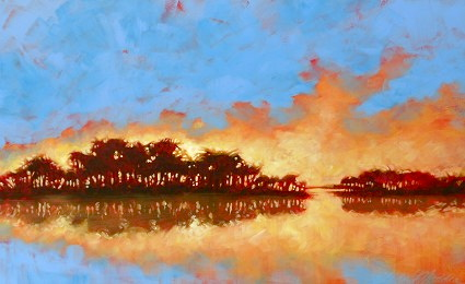 "Golden cloud 30""x48"""