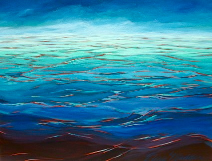 "Endless blue 36""x48"""