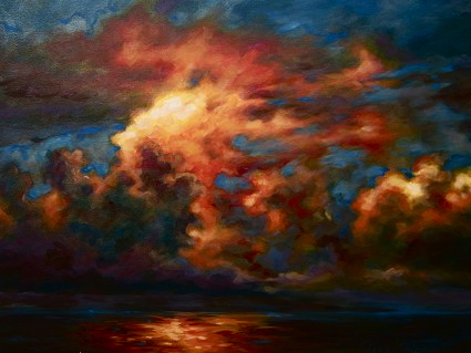 "No name sunset 36""x48"""