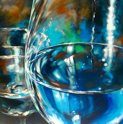 "Reflection of blue 36""x36"""
