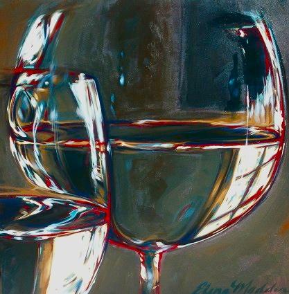 "Study of light, glass, water II 36""x36"""