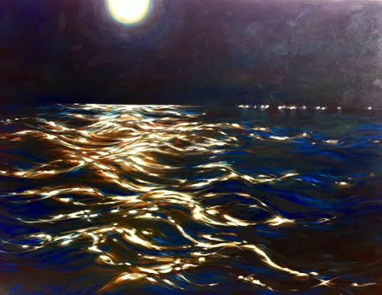 "Harbor moon 36""x48"""