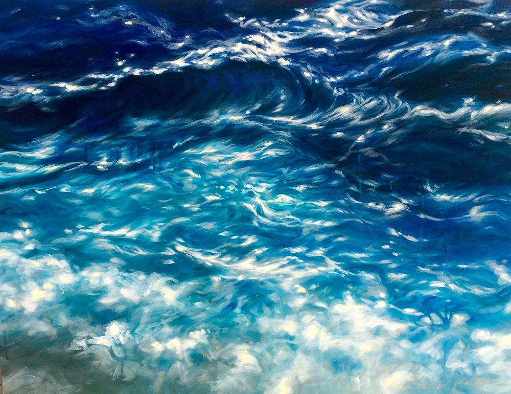 """Cerulean surf 36x48"""""""